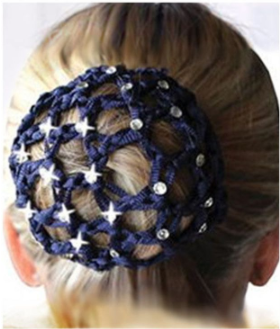 Crochet Bun Cover with Rhinestones
