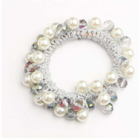Beaded Pearl Scrunchie