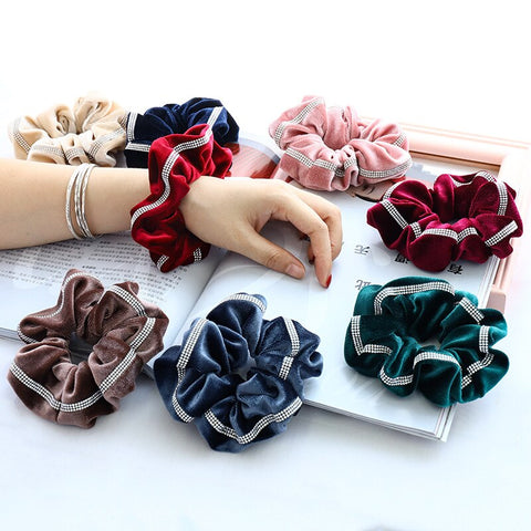 Velvet Scrunchie with Bling