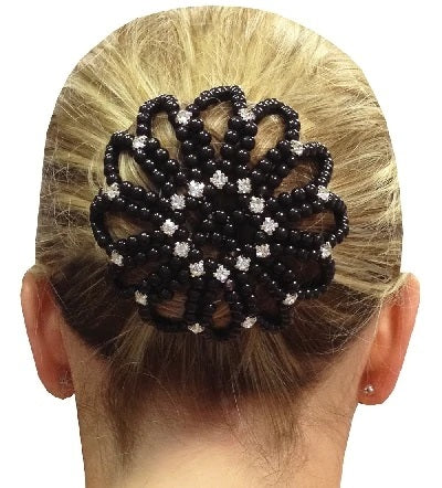 Bun Cover with Rhinestones and Pearls