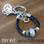 Living Horse Tails DIY Kit - Keyring with acrylic glitter bead