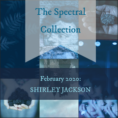 Mood board for the February 2020 Yarn Club inspired by the work of Shirley Jackson
