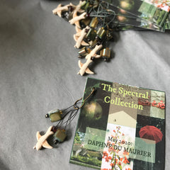 A flock of bird themed stitch markers for the Daphne du Maurier yarn club