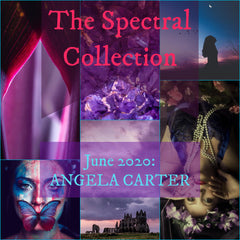 Mood board for the June 2020 Spectral Collection (Angela Carter) yarn club