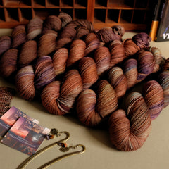 The Spectral Collection monthly hand dyed yarn club (yarn and bookmarks) for September 2020
