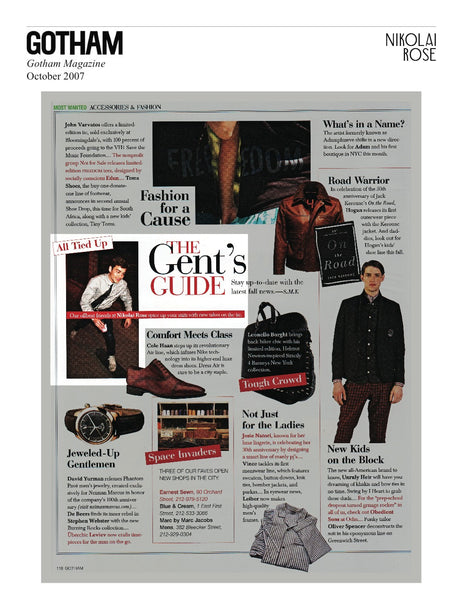 Gotham Magazine, October 2007