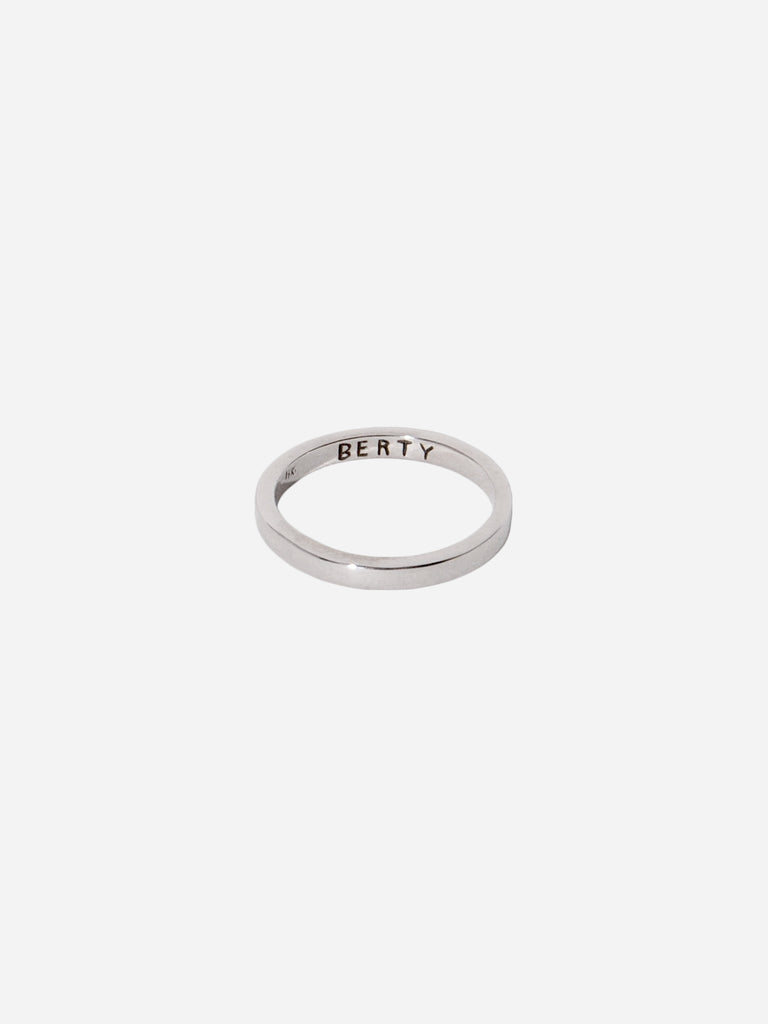 Engraved Wedding Rings, White Gold
