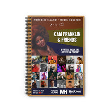 Load image into Gallery viewer, Kam Franklin and Friends Spiral Notebook - Ruled Line