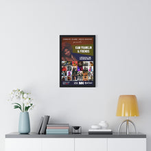 Load image into Gallery viewer, KFAF Premium Framed Poster (Black)