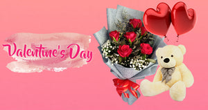 Valentines Day Bouquet of Flowers with Perfume