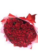 Astonishing 99 red roses