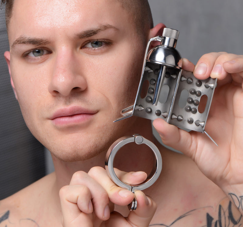 Spiked Chamber Chastity Cage