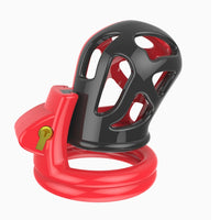 Round Dual Colour Vented Chastity Cage