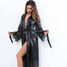 Load image into Gallery viewer, Silky Lace Night Robe Cover Up