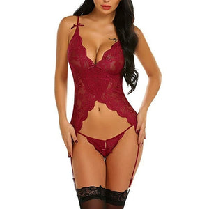 Shimmer Sexy Pajama Dress Set