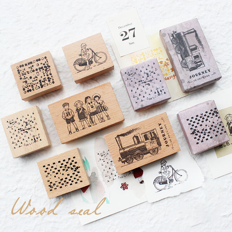 Geometric Shape Journey Youth Stamps