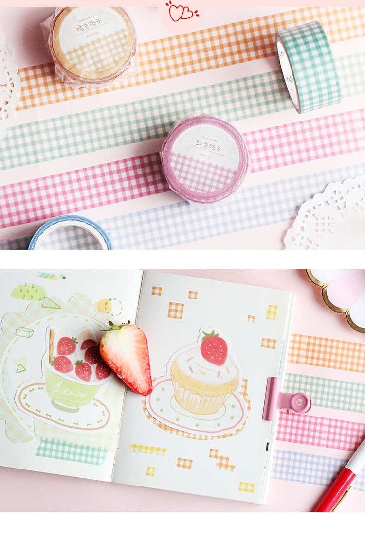Grid Colorful Washi Tape