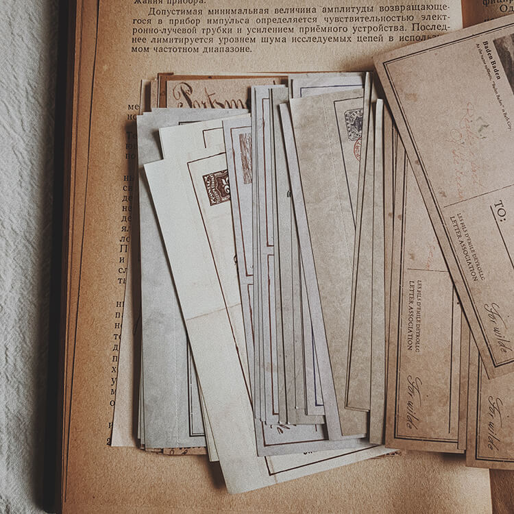 Old Stuffs Memo Paper and Sticker Collection