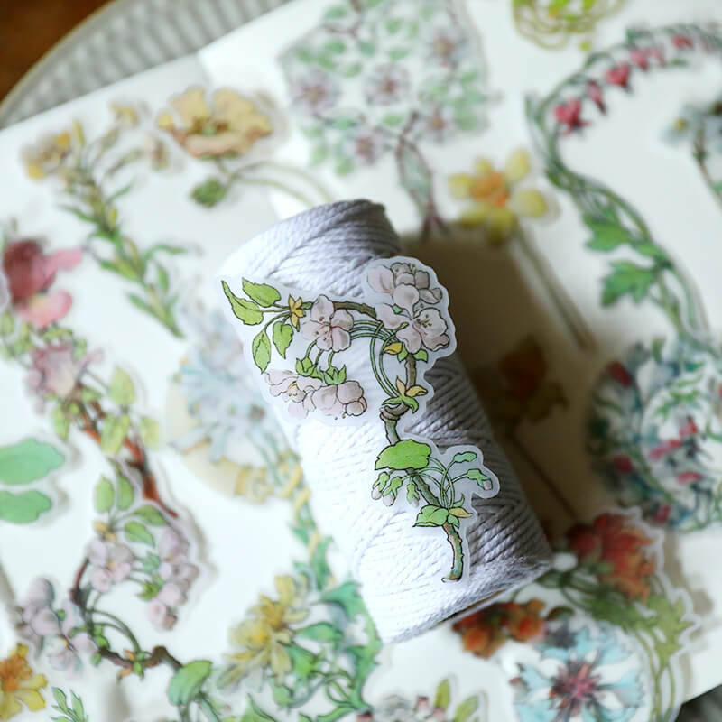 Alfons Mucha's Flower Themed Sticker