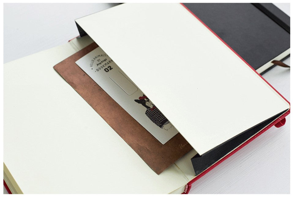A5 Hard Cover Journal Notebook with Matching Placeholder Ribbon