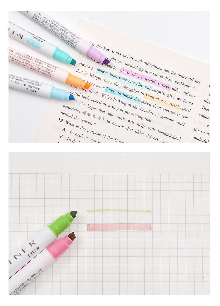 Colorful Dual Tip Highlighter Fluorescent Pen