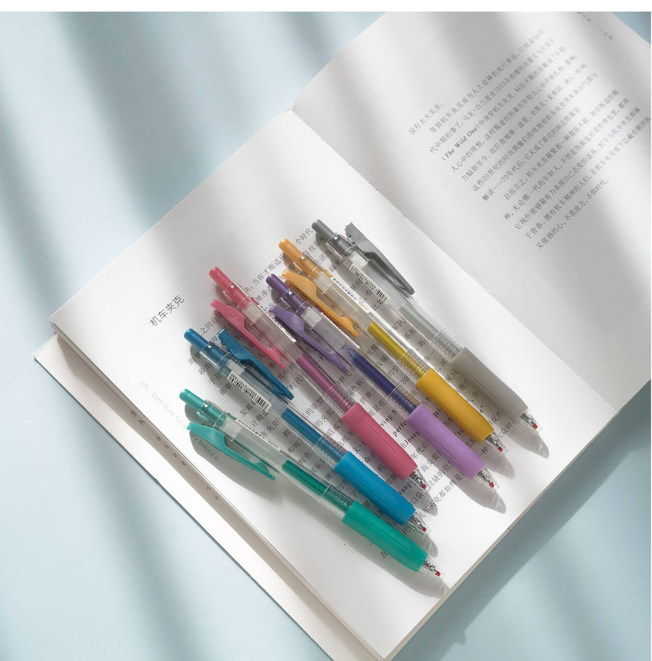 Colorful ink gel pen-Set of 6
