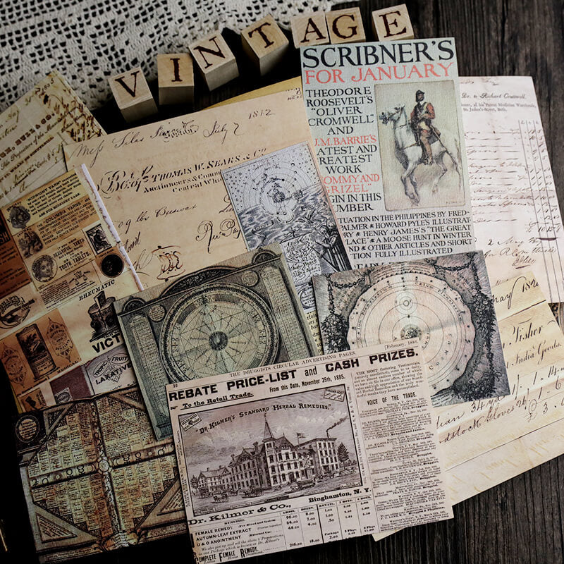 Vintage Poster Newspaper Themed Papaer Pack
