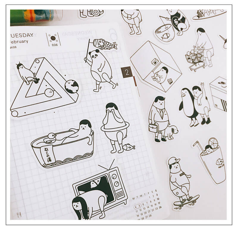 Funny Weird Cute Animal Themed Stickers