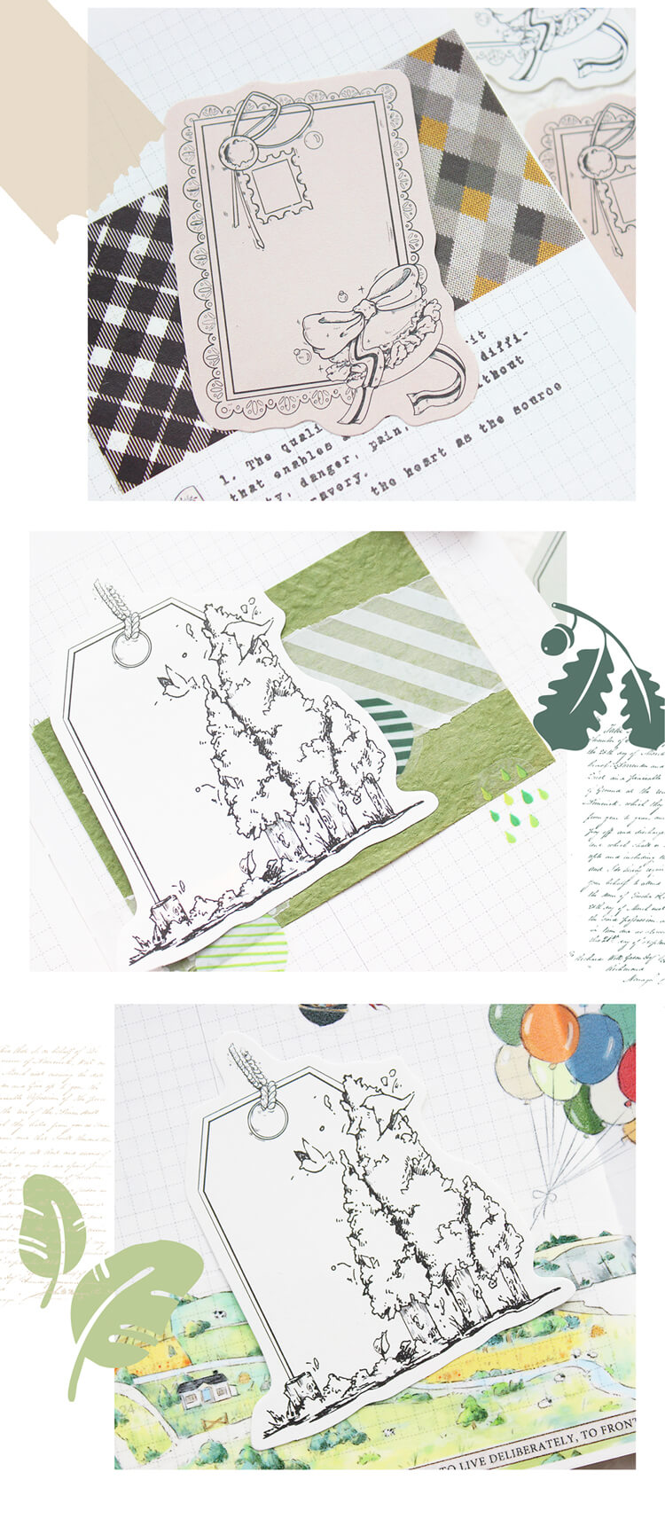 Forest Themed Memo Paper