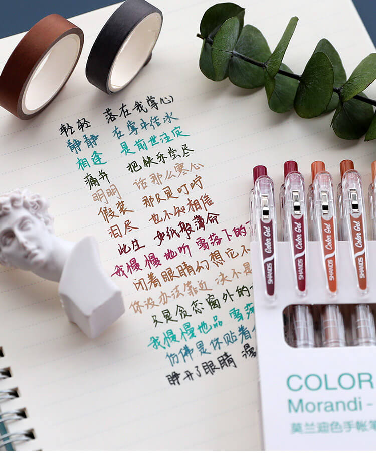 Morandi Color Series Retractable Gel Pen