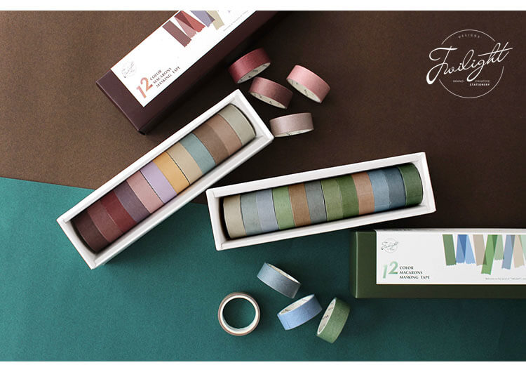 Basic Retro Color Washi Tape Set