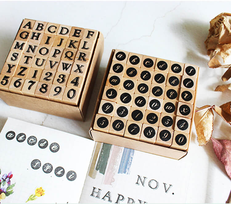 Alphabet And Numbers Stamp