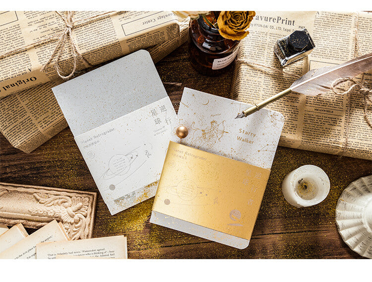 Universe Series Golden Foil Notebook Planner