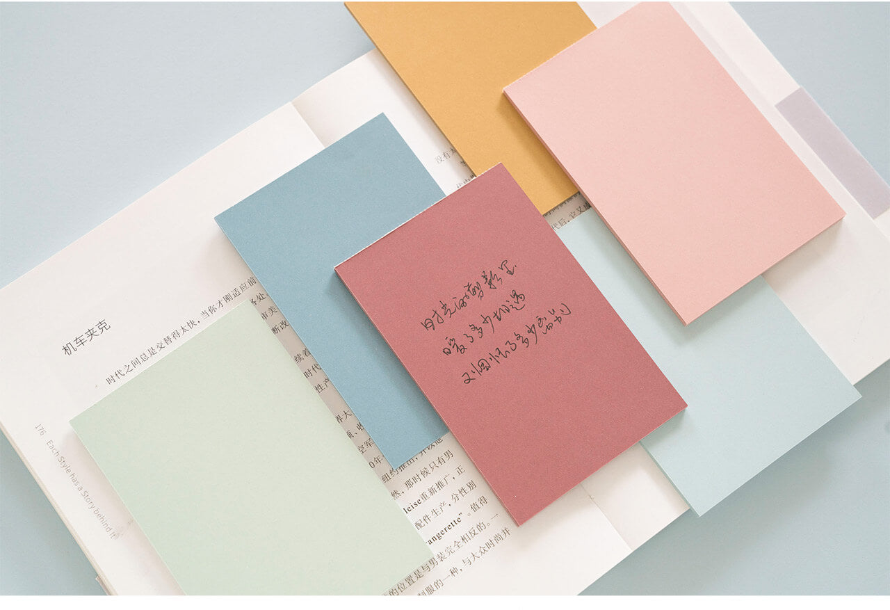 6 Colors Sticky Note Pad