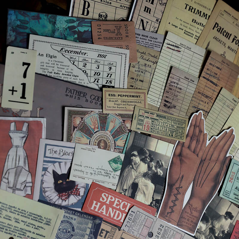 Vintage Library  Themed Sticker Paper Pack