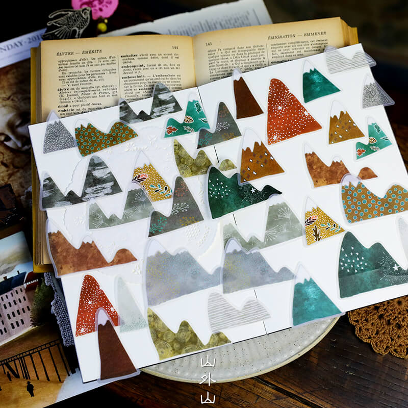 Mountain illustration Sticker