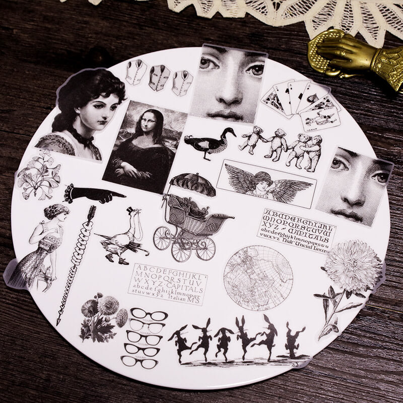 Vintage Woman Child Themed Stickers