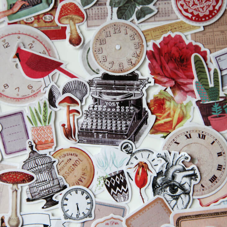Time Stickers Set