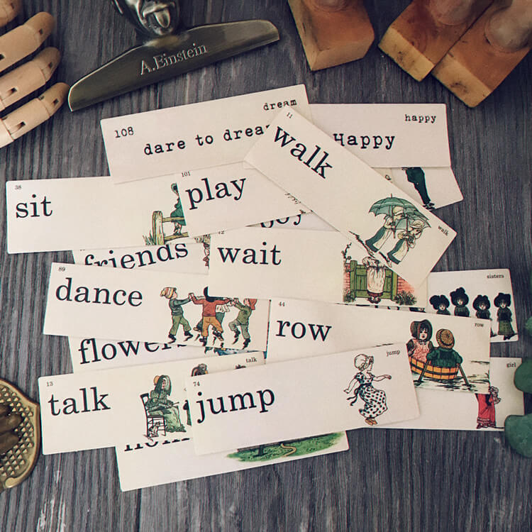 15 pcs Vintage English Words Sticker Tim Holtz Style