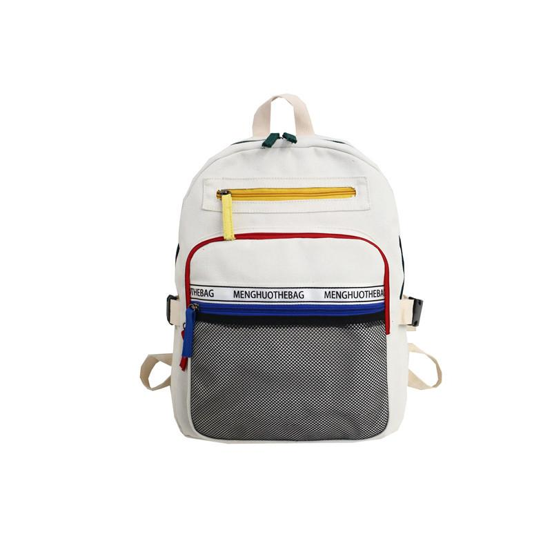 Multi-pocket Travel Canvas Backpack