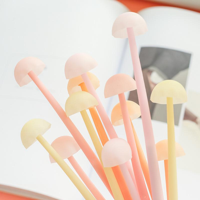 1 Piece Luminous Mushroom Silicone Gel Pen KINIYO Stationery