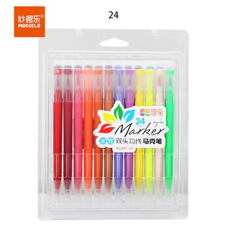Dual Tip Fine/Brush Pen-Set of 12/24/36