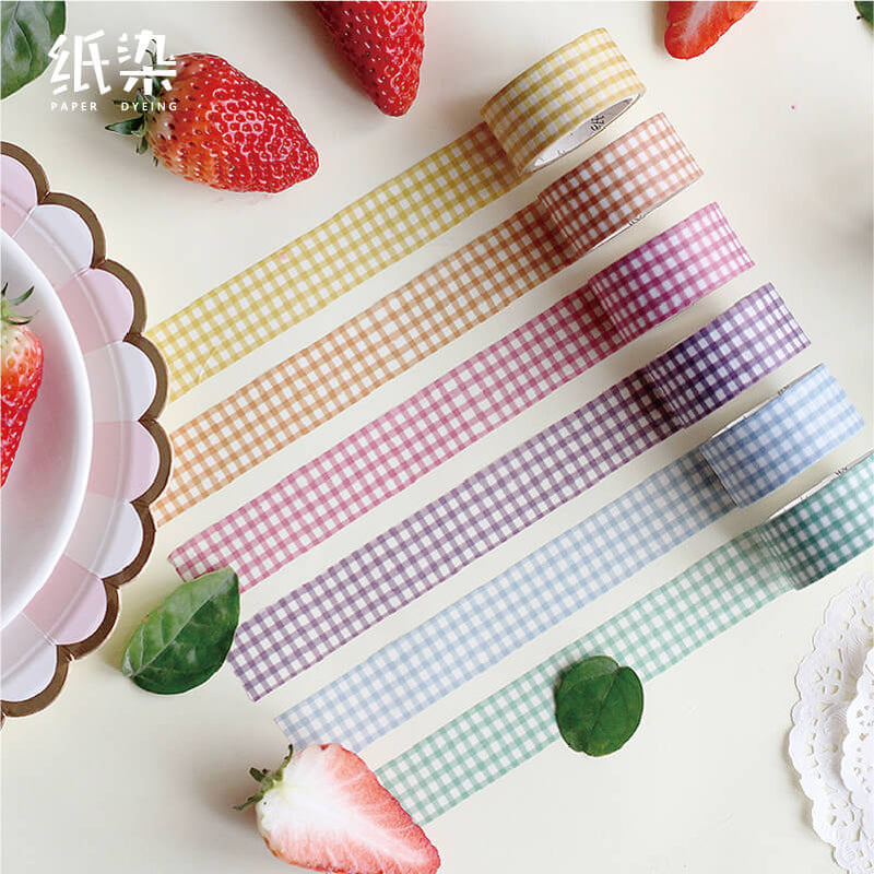 Colorful Plaid Washi Tape