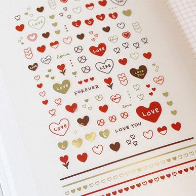 Sonia Heart Sticker Nail Sticker