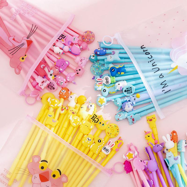 20pcs 0.38mm Cartoon Gel Pen Set KINIYO Stationery