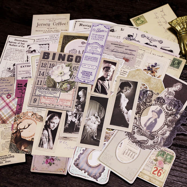 70 pcs Vintage Photos Tags Trademark Mixed Pack-2