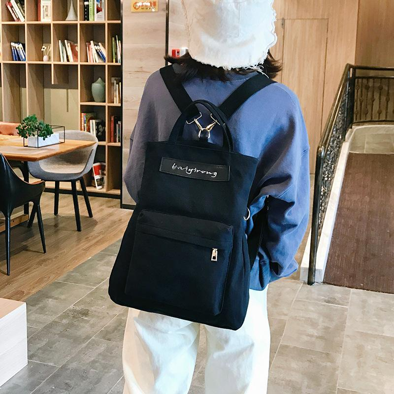 Contrast Color Biservice Shoulder Bag/Backpack KINIYO Stationery