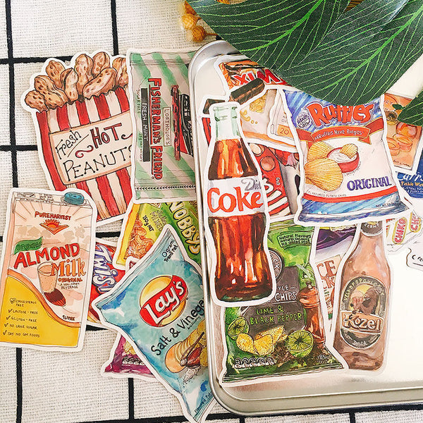20 pcs Snacks Sticker
