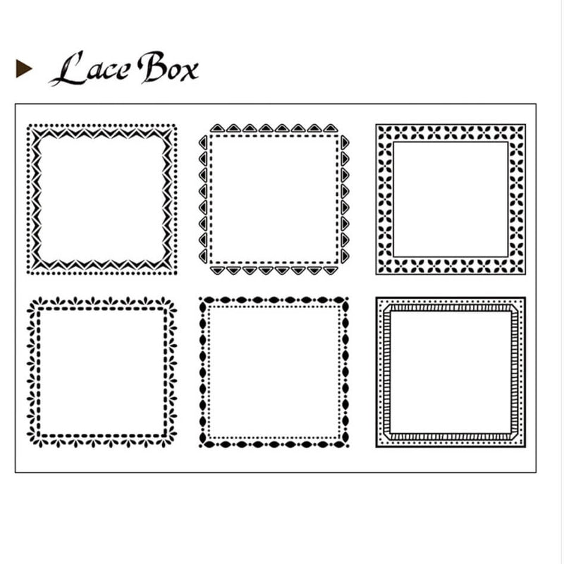 Lace Box Clear Stamp