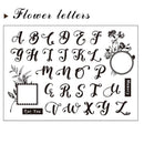 Flower Letters Clear Stamp